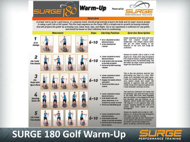 SURGE 180 Golf Warm-Up