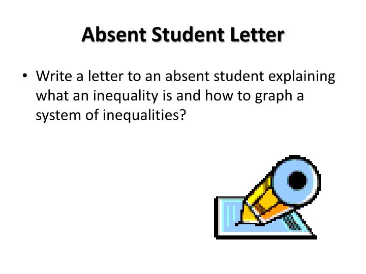 Absent Student Letter