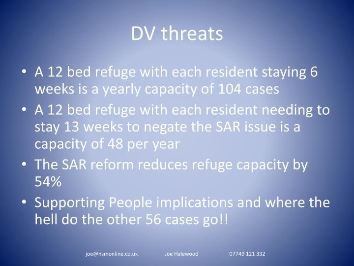 DV threats