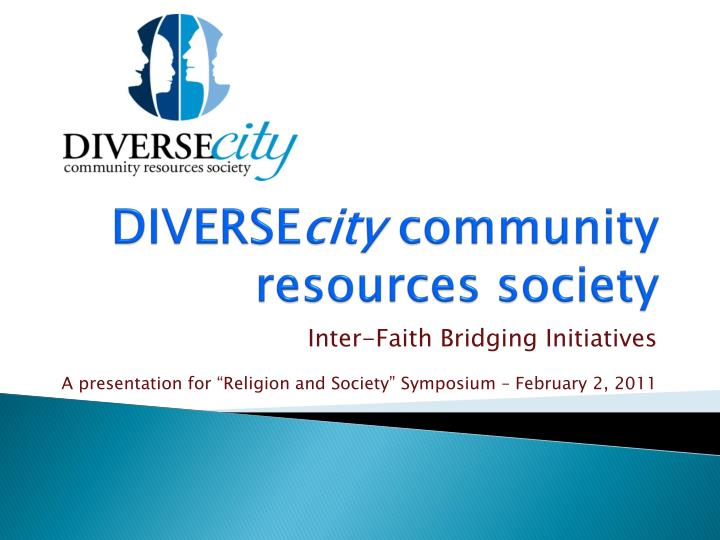 Diverse city community resources society