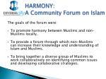 harmony a community forum on islam