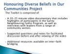 honouring diverse beliefs in our communities project2