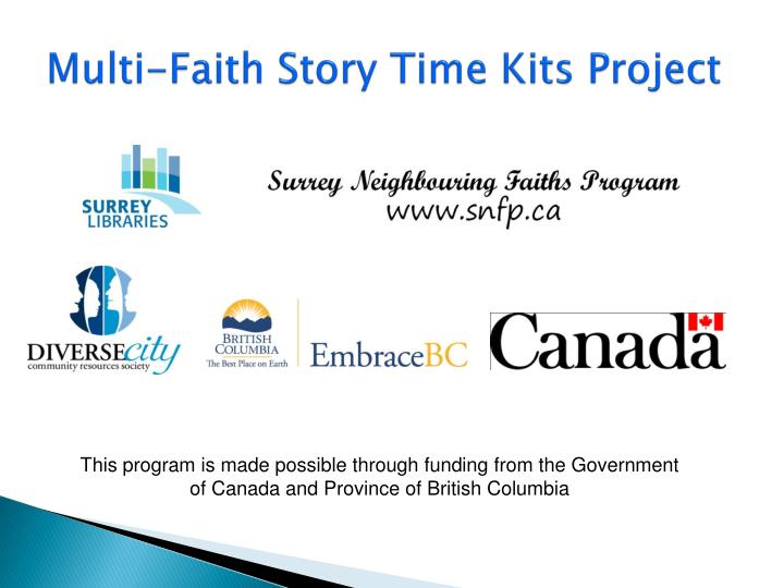 Multi-Faith Story Time Kits Project