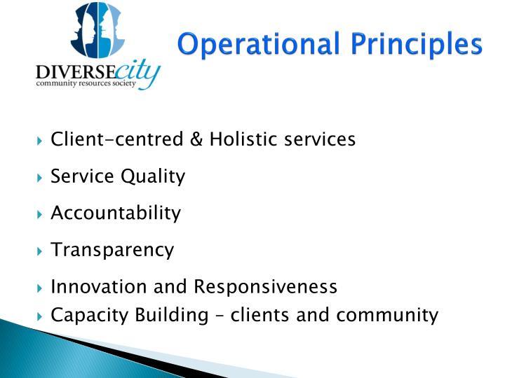 Operational Principles