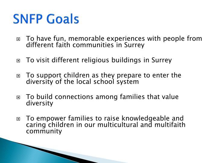SNFP Goals