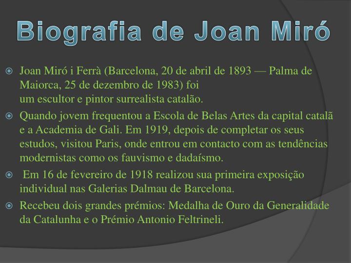 Biografia de Joan Miró