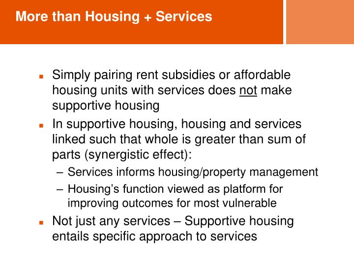 More than Housing + Services