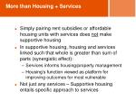more than housing services