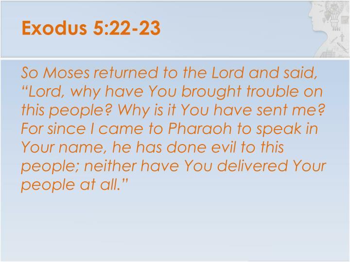 Exodus 5:22-23