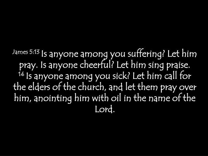 James 5:13