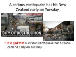 a serious earthquake has hit new zealand early on tuesday