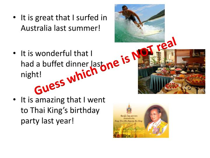 It is great that I surfed in Australia last summer!