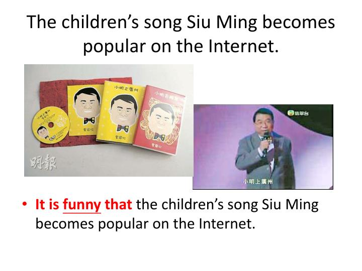 The children s song siu ming becomes popular on the internet