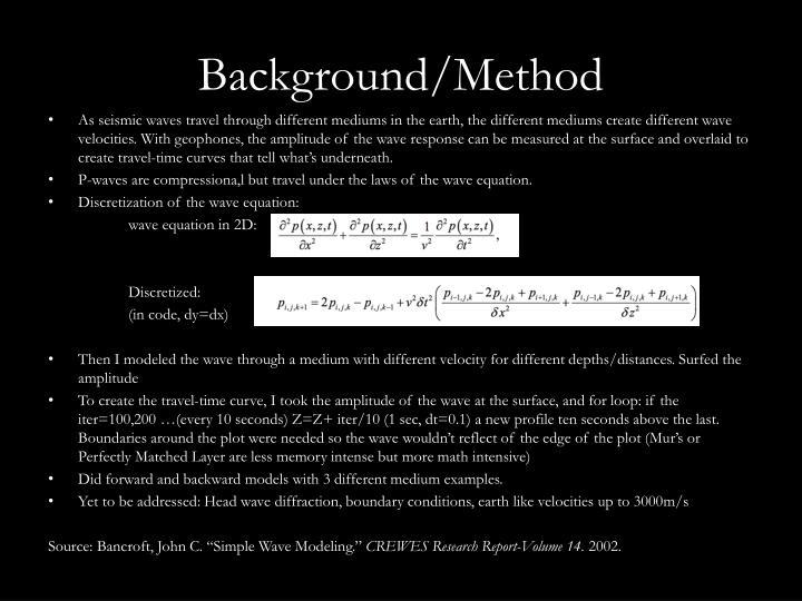 Background/Method