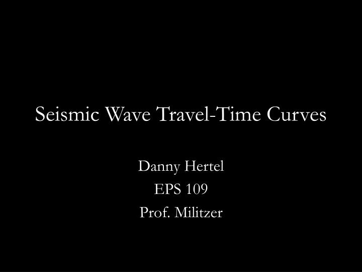 Seismic wave travel time curves