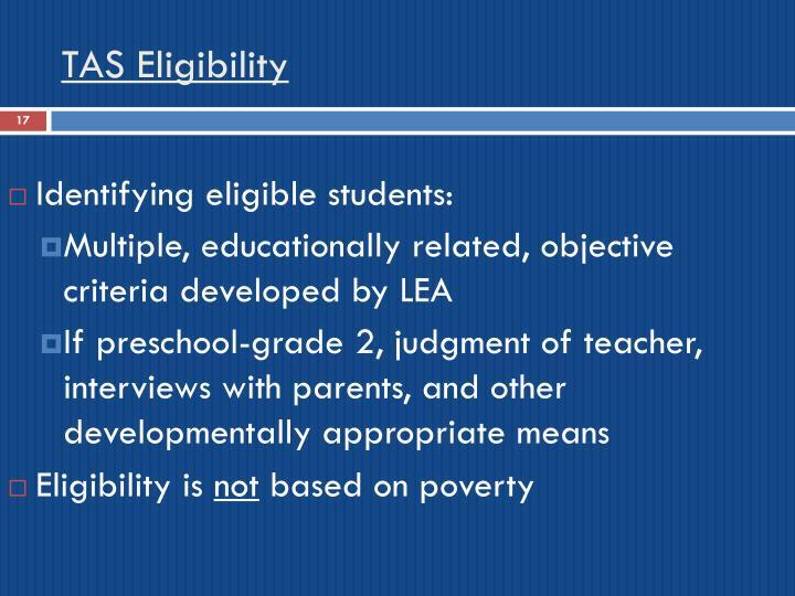 TAS Eligibility