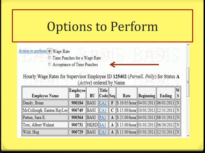Options to Perform
