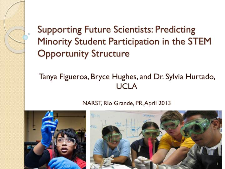 Supporting Future Scientists: Predicting Minority Student Participation in the STEM Opportunity Stru...