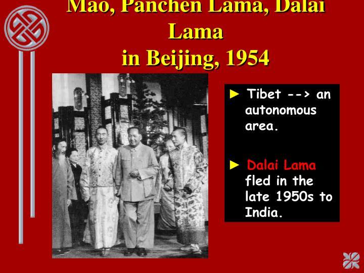 Mao, Panchen Lama, Dalai Lama