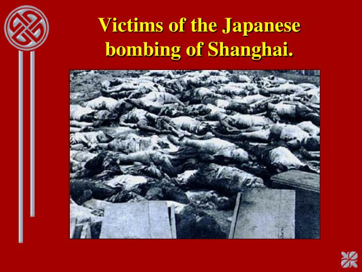 Victims of the Japanese bombing of Shanghai.