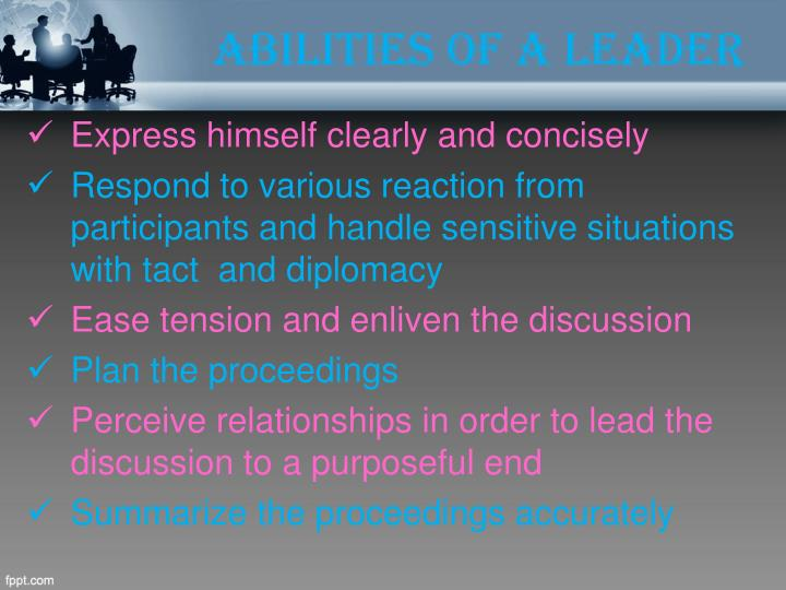 Abilities of a Leader