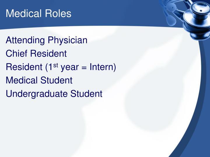 Medical Roles