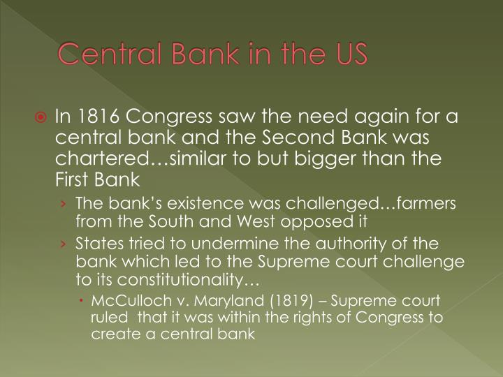 Central Bank in the US