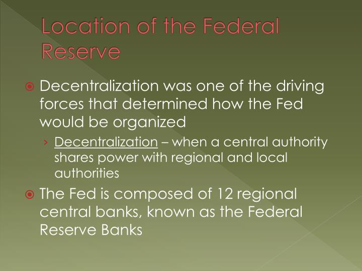 Location of the Federal Reserve