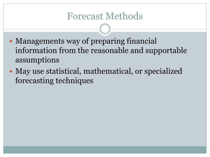 Forecast Methods