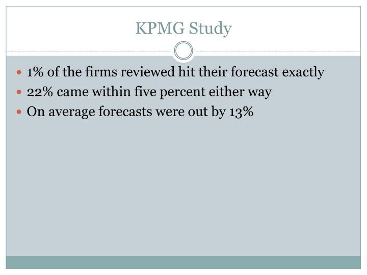 KPMG Study