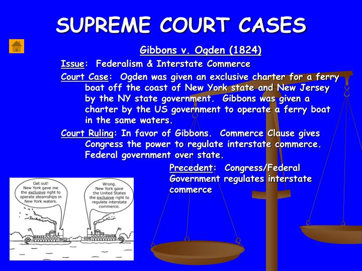 the influence of the supreme court case gibbons vs ogden in the us The supreme court case studiesbooklet contains 82 reproducible supreme court case studies  case study 4:gibbons v ogden, 1824  2 supreme court case studies supreme court case study 1.