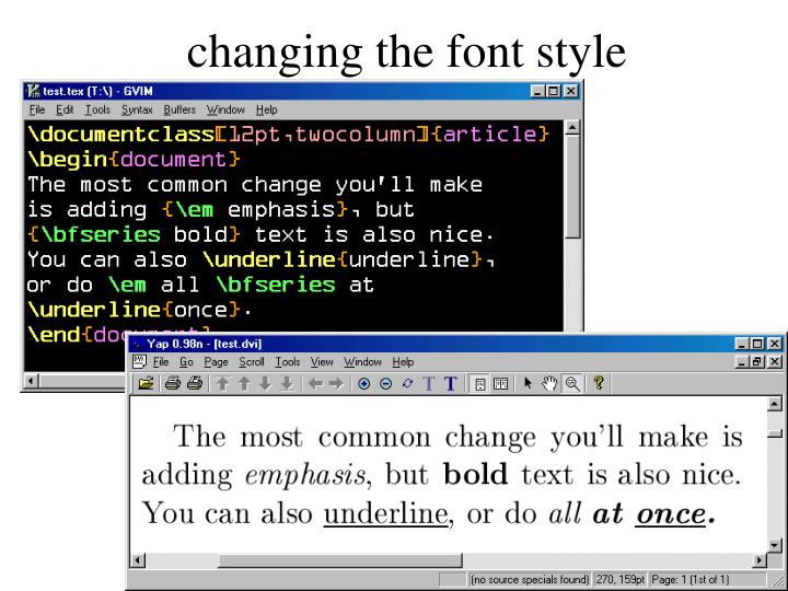 changing the font style
