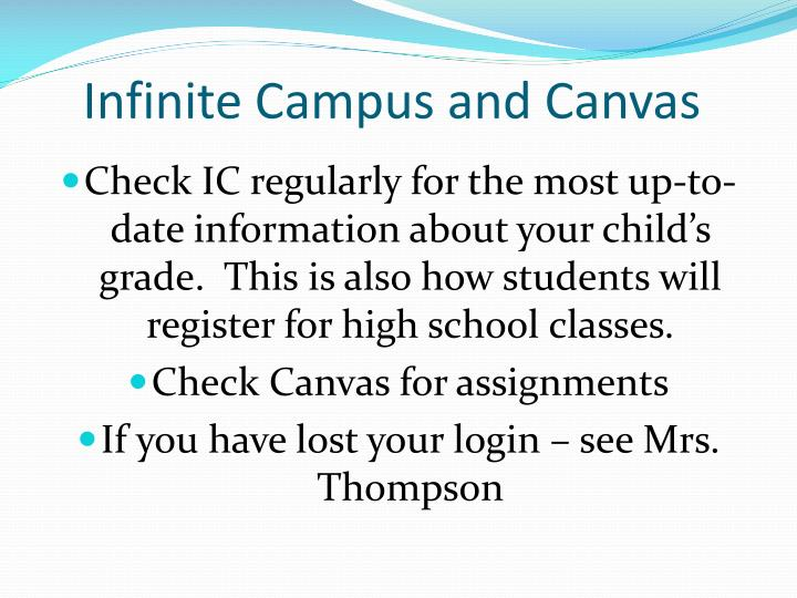Infinite Campus and Canvas