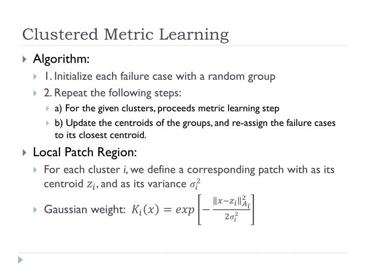 Clustered Metric Learning