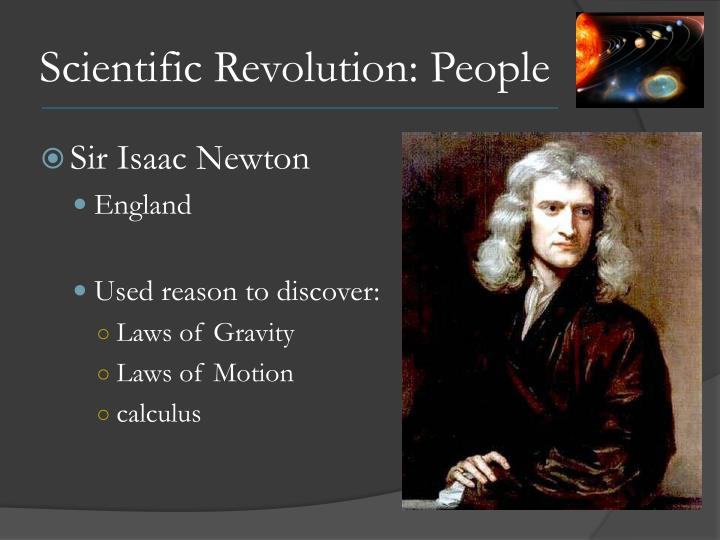 Scientific Revolution: People