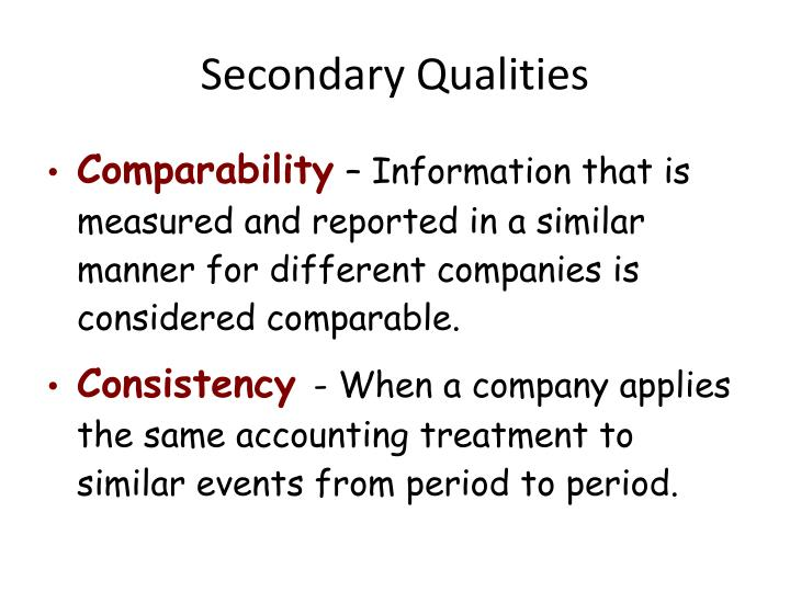 Secondary Qualities