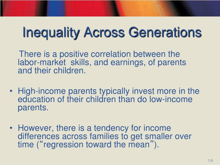 Inequality Across Generations