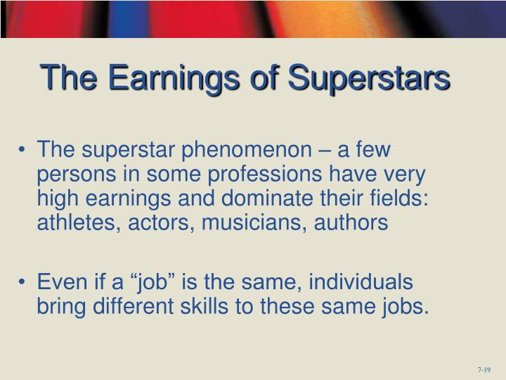 The Earnings of Superstars