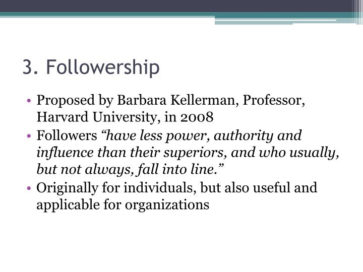 3. Followership