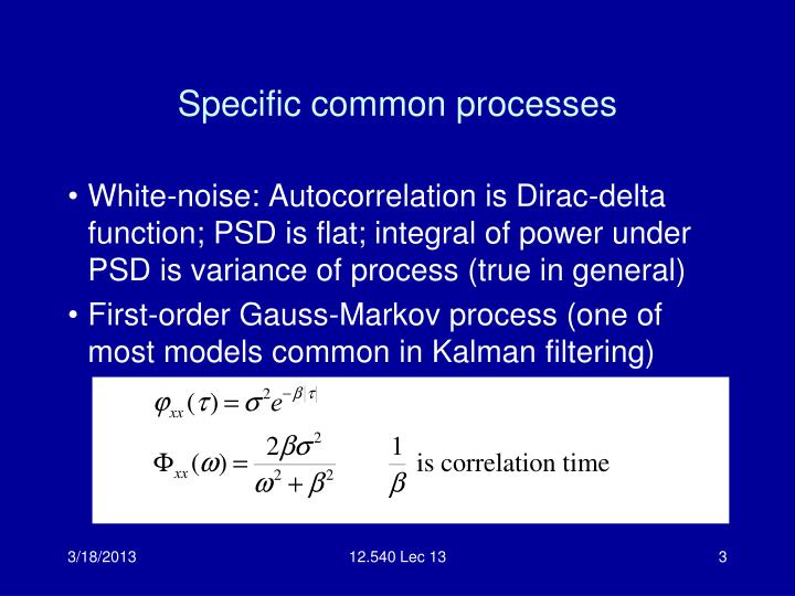 Specific common processes