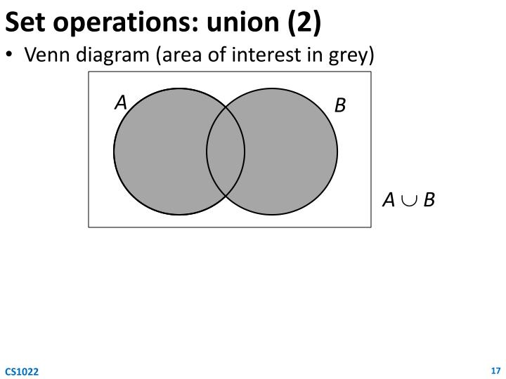 Set operations: union (2)