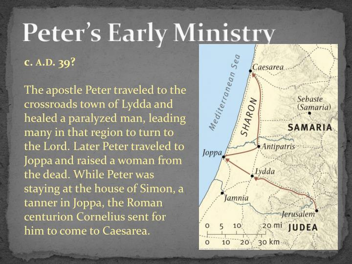 Peter's Early Ministry