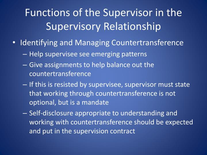 the supervisory relationship questionnaire clinical version