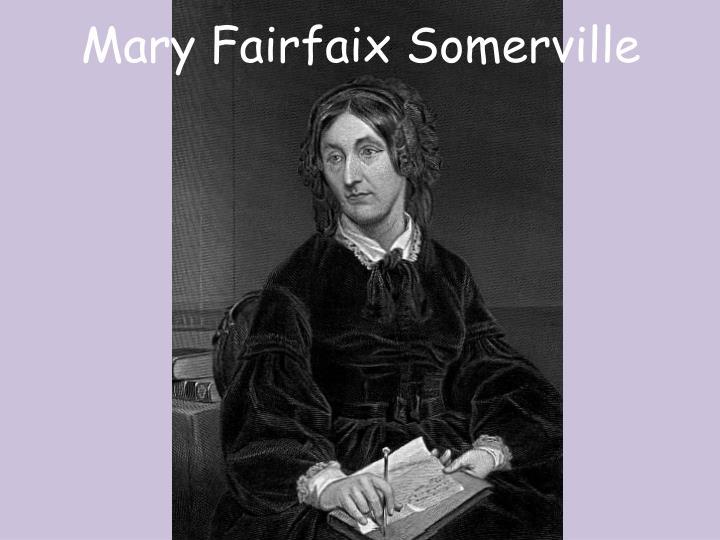 Mary Fairfaix Somerville