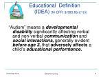 educational definition idea 34 cfr 300 8 c 1 i