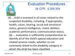 evaluation procedures 34 cfr 300 304