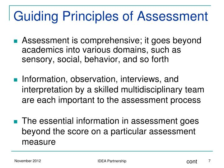 Guiding Principles of Assessment