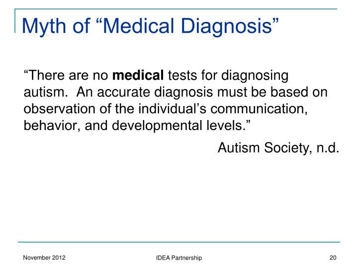 "Myth of ""Medical Diagnosis"""