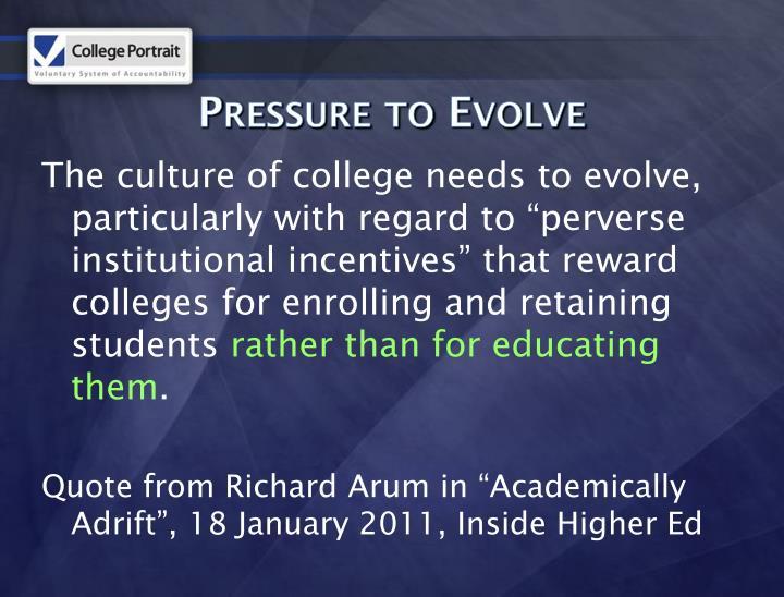 Pressure to Evolve