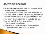 electronic records